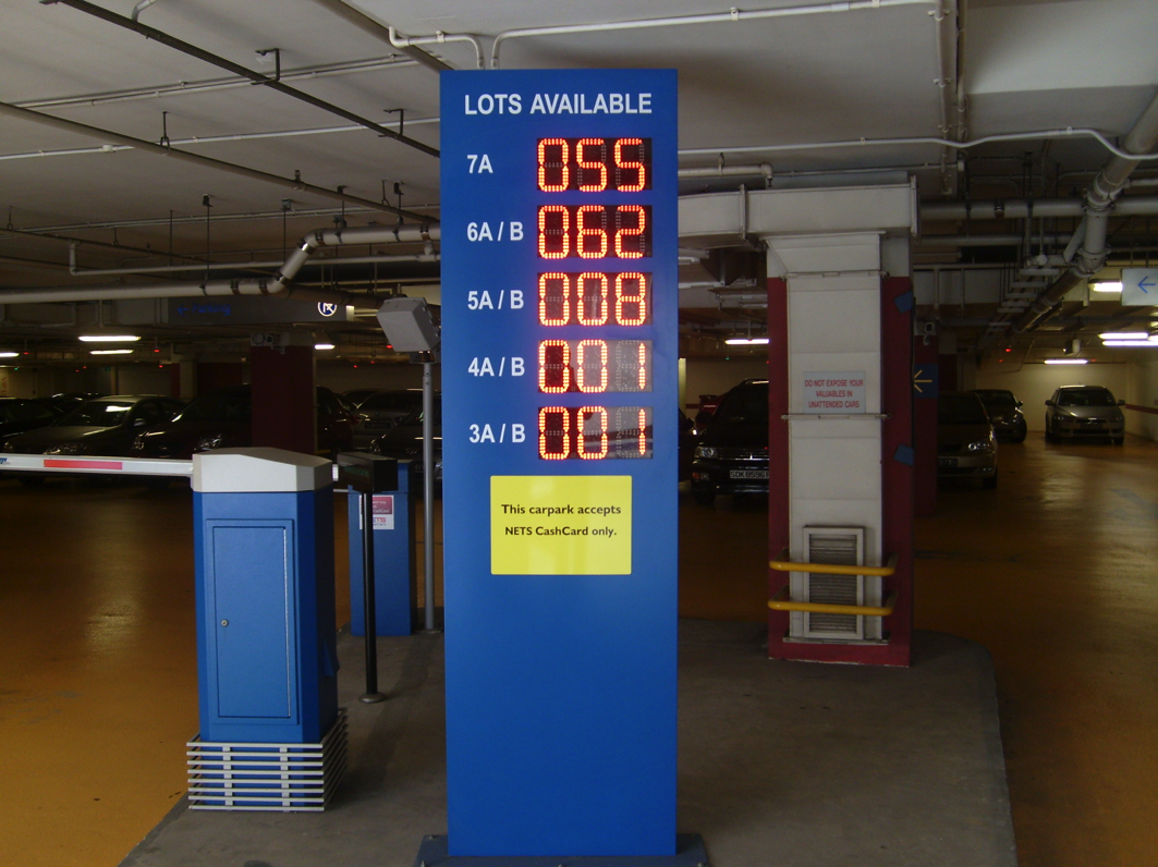 Vehicle Display Systems : Led car park guidance display system